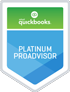 This is the quickbooks Platinum Proadvisor logo. It signifies that Padgett is a Platinum Proadvisor.