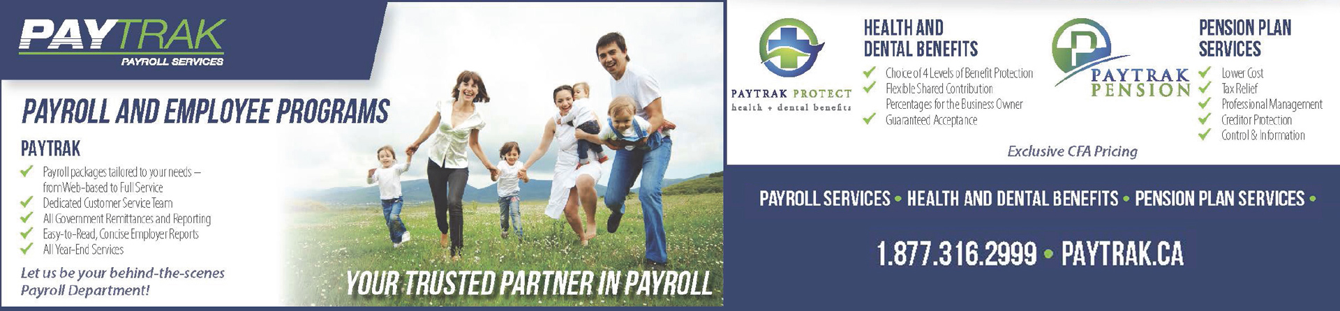 This image is of a banner advertising PayTrak
