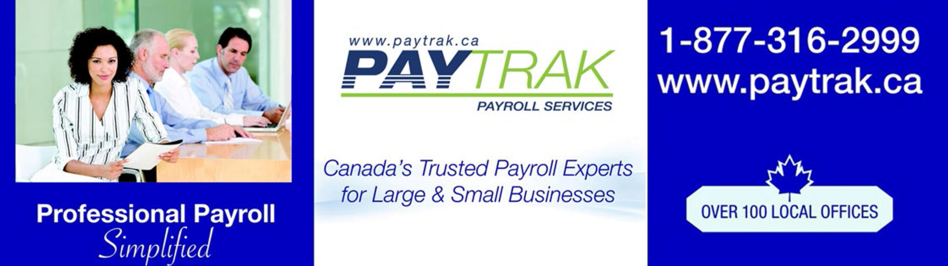 This image is of a banner advertising PayTrak software.