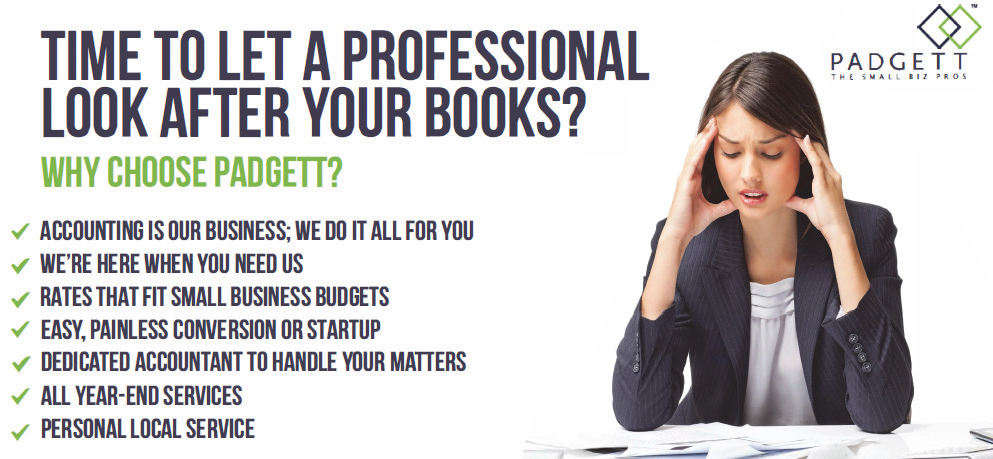 Time to let a professional look after your books? Choose Padgett!