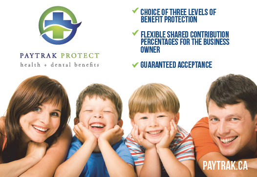 This image is an advertisement for the PayTrak program.
